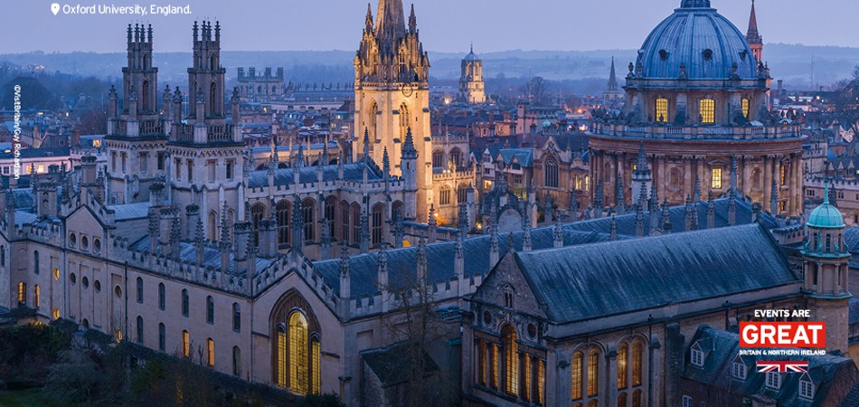 Oxford Univeristy, England UNLOCK KNOWLEDGE VisitBritain's Events are GREAT campaign